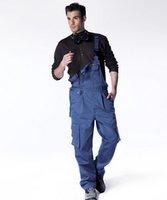Wholesale Cargos Discount - Wholesale-Discount Men's Tooling Overalls Bib Pants American Work Wear Loose Plus Size Spaghetti Strap Multi-Pockets Jumpsuit Cargo Pants