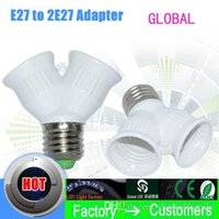 Wholesale Global brand E27 to E27 Light Lamp Bulb Adapter Converte E27 Lamp Holder Converter LED CORN URE