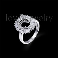 baguette diamond wedding band - Ring Oval x11mm K White Gold Baguette Diamond Semi Mount Wedding Engagement Ring