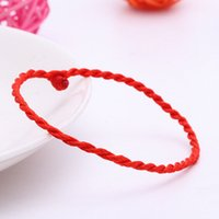 beautiful chinese symbols - ZYR Women bijoux Chinese Symbol Beautiful Love Red Rope bracelets amp bangles