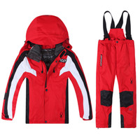 baby ski wear - 2015 new children winter snow suit baby boys fashion clothing set kids ski suit wear boys hoody sport suit child winter outwear