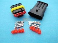 Wholesale set Pin Way Auto Waterproof Electrical Wire Connector Plug