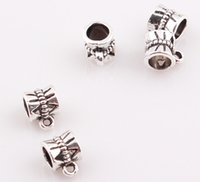 Wholesale NEW Arrival Antique Silver Bail beads Spacer Beads for Dangle Charms Fit European Bracelet BE338