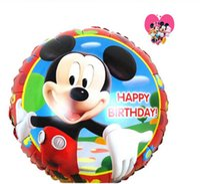 party happy birthday - 100pcs cm happy birthday foil mickey mouse balloons boys mickey mouse party supplies balloons for mickey mouse party