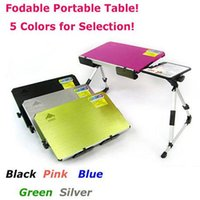 Wholesale Portable Foldable Aluminum Laptop Desk Notebook Table Bed Mate PC holder stand