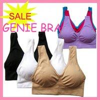 genie bras - 100pcs genie bra women seamless sports bra plus size XXXL wirefree set black white nude red blue purple