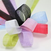 Wholesale zd139 MM Transparent Organza Ribbon fit Gift Wrapping Clothing Accessories DIY Headwear Wedding Decoration