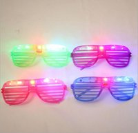 Wholesale LED Shutters Glasses Flashing Glasses Light Up Rave Toys For Halloween Masquerade Mask Dress Up Christmas Party Decoration