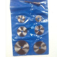 Wholesale 6pcs HSS Circular Saw Blade With Mandrel Max RPM Speed for Rotary Tool Mandrel New SETS