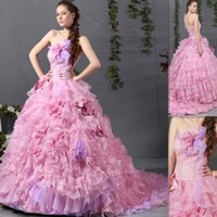 australia customs - Vestidos Festa De Anos Light Pink Quinceanera Dresses Ball Gowns Organza Strapless Floor Length Ruffles Puffy Australia Party Dress