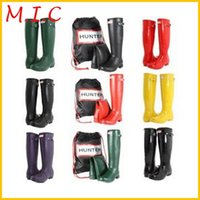 Rain Boots wellies - 2014 Brand New Women Fashion Rubber Rain boots Woman Knee High Waterproof Wellies Rainboots Water Shoes High Quality boots