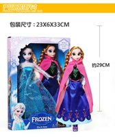 Wholesale NEW Frozen Anna Elsa olaf Toys Princess dolls Inch Nice kids Girls Birthday christmas XMAS new year Children s Day Gift gifts O003