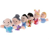 Wholesale hot Lovely lively Funny Mini Baby Kids Plush Family Doll Play Game Finger Puppets Educational Learn Toys set