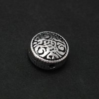 Wholesale 2014 Hot Selling sterling silver Flat beads mm CN BJS370