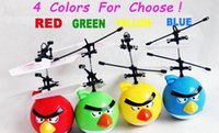 Wholesale Flying Toys Bird Upgrade Classic Electronic Toys RC Fly Bird Helicopter For Kids Ball Hovering Floating Flashing with lights in eyes