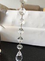 acrylic octagon beads - 30pcs cm Acrylic crystal octagon beads for Diy Christmas Decoration Supplies Acrylic Garland strands crystal curtain