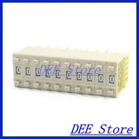 bcd switch - x Gray BCD Code Single Unit Thumbwheel Pushwheel Switches mm x mm KSA