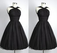 Wholesale New Vestido De Festa Graduation Dresses Black Short Straps Students Party Dress Cocktail Dress Cheap Custom Made