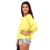 plain long sleeve - Women Lady Sexy Casual Plain Chiffon Shirt Long Sleeve Loose Tops Blouses Fashion Casual Vest Various Sizes Colors