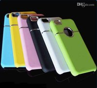 chrome green - Luxury Chrome Metal Ring Hole Case Hard Plastic Back Cover for iphone C iphone5C Various colors