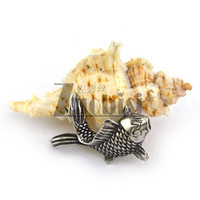 Cheap Newest Arrival Charms 316L Stainless Steel Casting Carp Pendants Trendy Accessoris
