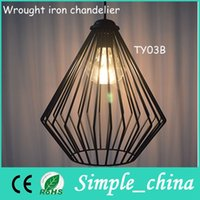 Wholesale American style country restoring ancient ways LOFT reetro lights industry warehouse Vintage pendant lamp wrought iron chandelier