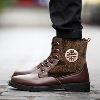 work boots for men - Winter Men Martin Boots Fashion Fur Splice Lace Up Ankle Boots For Mens Metal Decoration Round Toe Man Work Boots Retail H669