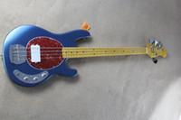 venda por atacado electric mop-Custom MusicanMan Ernie Ball 4 cordas StingRay Electric Bass Guitar MOP vermelho Pickguardone 9V bateria pickup iniciático de alta qualidade