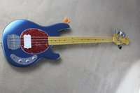 Wholesale Custom Shop MusicMan Ernie Ball String Sting Ray Ball Electric Bass Guitar v Battery Top initiactive pickup High Quality Bestselling