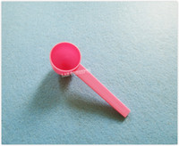 Libre 5g envío gramo 10ML plástico HDPE cucharada Cuchara herramienta para la alimentación líquida de la leche en polvo médica de medición - 200pcs rosa / lot OP858