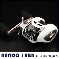 Wholesale Fashionable WHITE RED BB low profile baitcasting reel baitcaster reels w Aluminum CNC spool and handle fishing reel