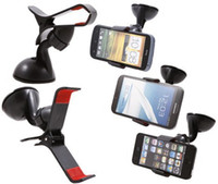 angle window - Dashboard Windshield Car Mount Bracket Multi Angle Rotating Car Mount Window Dock Holder Cradle For Mobile Cell Phone