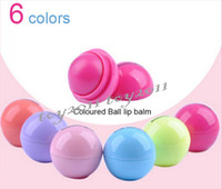 Wholesale 6 color Smooth Sphere Lip Balm Fashion Round Ball Natural Organic Embellish Lip Balm Chapstick Lip Care