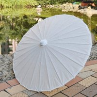 Wholesale 60pcs DIY Bamboo Handle Parasols Mini Solid Color Paper Umbrella Festival Party Events Prom Ornamnets H105S
