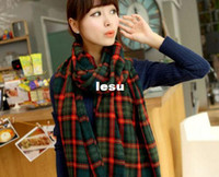 Wholesale Fashion Hot Lady Women Winter Large Blanket Oversized Shawl Plaid Check Tartan Scarf Wrap
