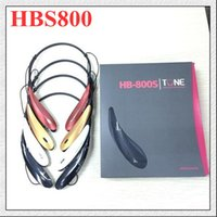 Cheap Bluetooth Stereo headset HBS-800 HBS800 Wireless Sport Neckband Headset In-ear Headphone Bluetooth Stereo Earphones Earphone Headsets