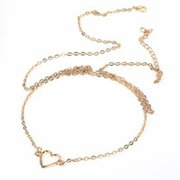 Wholesale 2015 Heart Belly Chain Waist Chain Bikini Gold Tone Body Chain Jewelry Gift New order lt no tracking