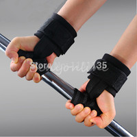 Wholesale 1Pair Gym Training Weight Lifting Gloves Bar Grip Barbell Straps Wraps Hand with Wrist Support for Protection