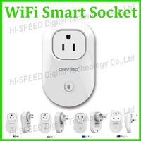 Wholesale 10pcs Orvibo EU US UK AU Standard Power Socket WiFi Smart Switch Travel Plug Socket Home Automation app for iphone Ipad Android Smartph