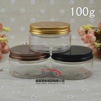 aluminium jar products - 50pcs ml clear Cream Jar Cometic Packaging g PET Jar Plastic Container pet plastic products with aluminium cap