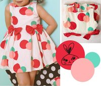 Wholesale European and American girls Cute Dot Bubble Bow knot Dress
