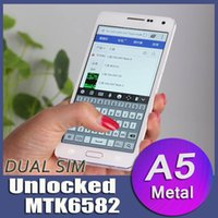 a5000 - HDC A5000 MTK6582 Quad Core GB RAM GB ROM inch x720p Full HD Screen Metal Frame Smart Android Phone A5