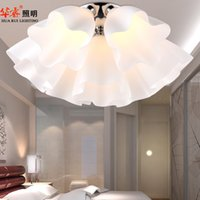 encendido montaje luces de techo vidrio flores cpula luz saln luces sala de estar iluminacin muchachas dormitorio estudio interior lmparas para techos