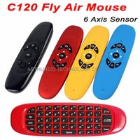 android handheld computer - New Colorful C120 Fly Air Mouse Axis Sensor Wireless Keyboard Gaming Rechargeable with Touchpad Handheld for Android TV Box IPTV Computer