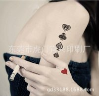 art christmas cards - Waterproof Temporary Tattoo Body Art Sexy Fake Tattoo Supply waterproof disposable tattoo stickers customized cards manufacturers