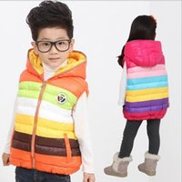 Wholesale Children s Winter Waistcoat Girl s Down feather Outwear Baby Hoodies Jackets girl Outfits Kids Clothing WD1089
