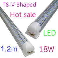 T8 28W 32W 42W 65W SMD 2835 100X V-Shaped 4ft 5ft 6ft 8ft T8 Tubes Lights Cooler Door Led Tubes Single Pin FA8 Integrated 28W 32W 42W 65W Cold White AC 85-265V