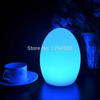 Wholesale LED Egg bar table lamp Dining Room Rechargeable Decorative light Colors in One D10 H22cm Gifts LED Lamp