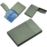 Wholesale Pocket Business Name Credit ID Card Case Metal Box Holder Aluminum Alloy New