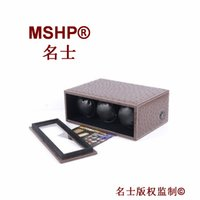 Wholesale high quality wooden ostrich leather PU japan silent motors criple watch winder